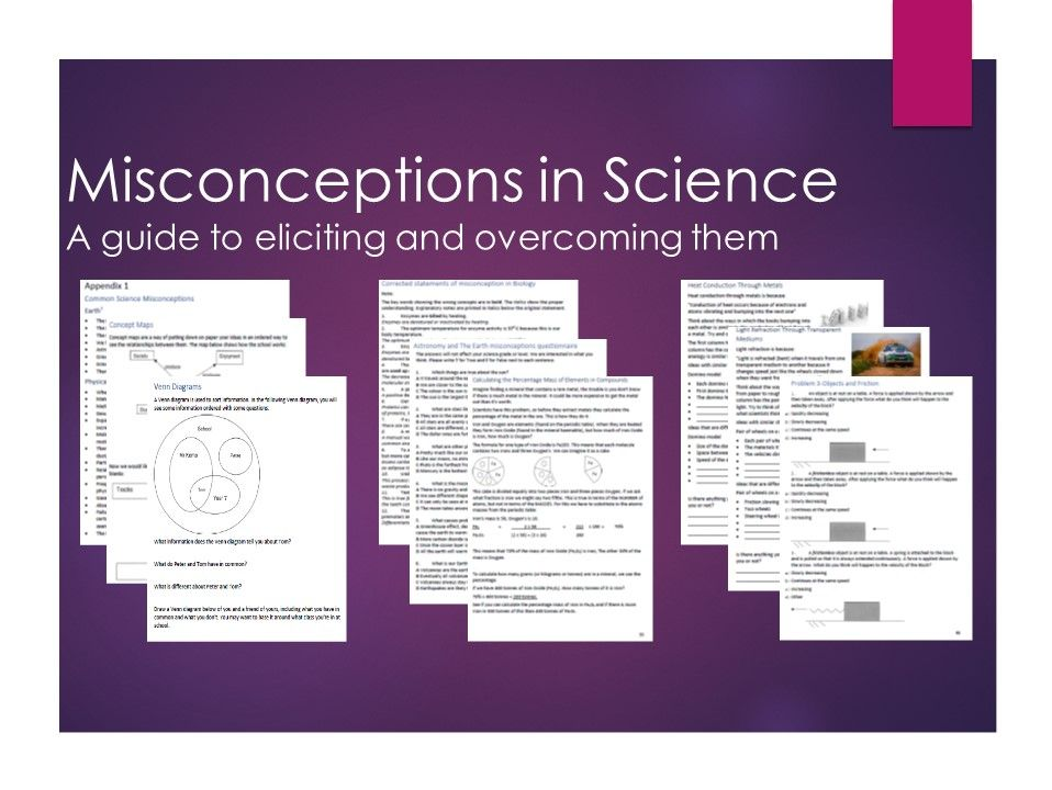 Misconceptions In Science UPDATED
