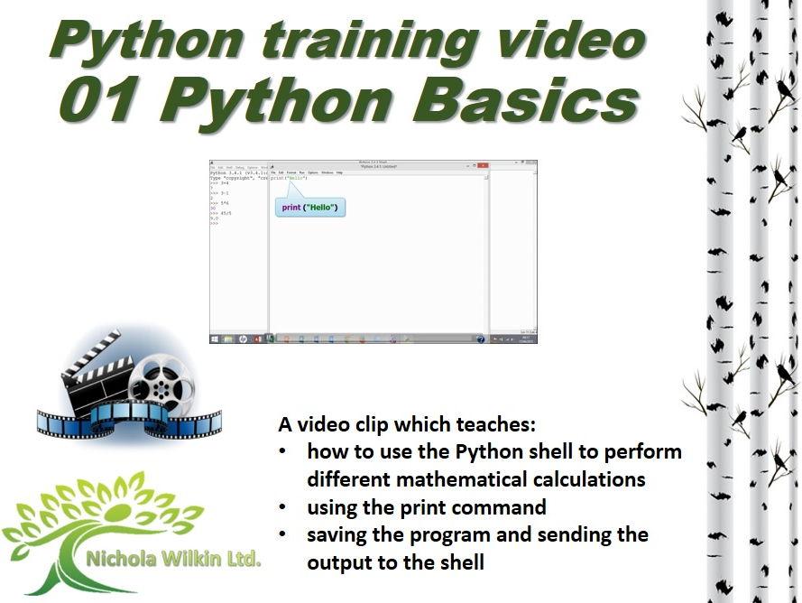 Python training video - 01 Python Basics