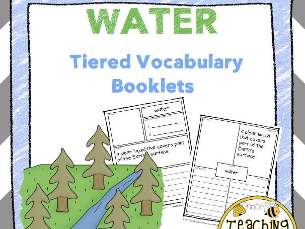 Water Tiered Vocabulary Booklets