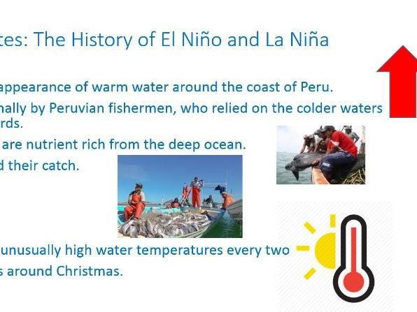 GCSE 9-1; Climate - El Niño and La Niña