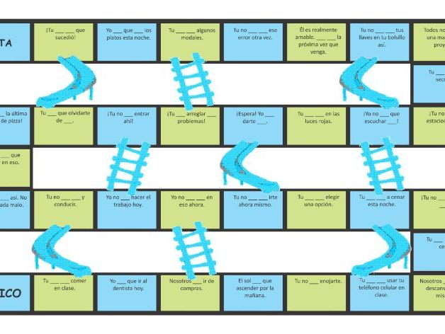 Modals of Obligation, Necessity and Prohibition Spanish Chutes and Ladders Board Game
