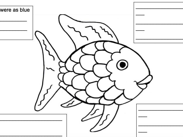 Rainbow Fish Simile Writing