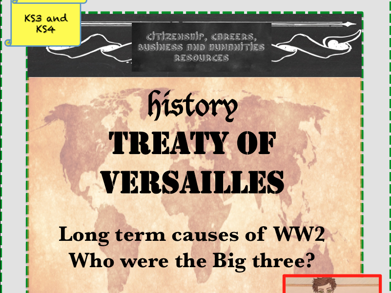 Treaty of Versailles and the Big three - World War 2