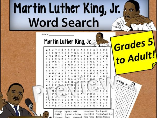 Martin Luther King, Jr. Day Word Search *Hard*