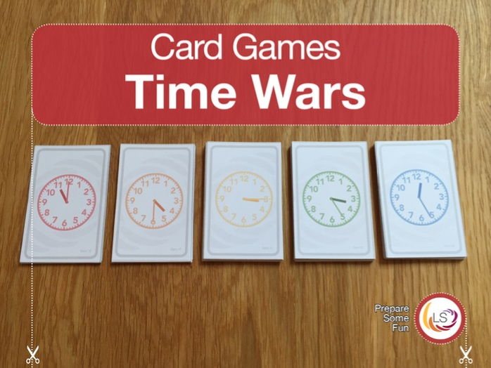 Clock Faces Card Game