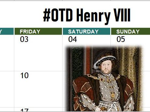 Henry VIII On This Day 2018-19 Calendar (Edexcel)