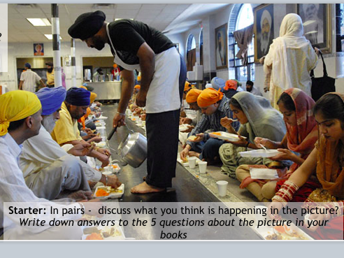 Sikhism and Suffering KS3 Differentiated lesson