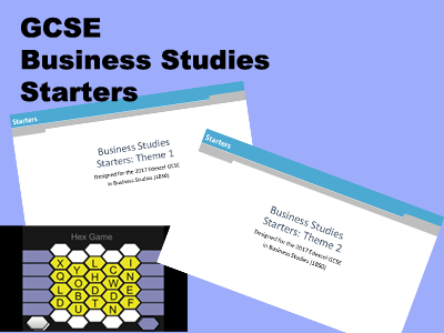 GCSE Business Studies Starters Bundle for Edexcel (1BS0)