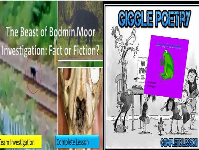 Two Beast of Bodmin Moor Lessons + Giggle Poetry and Literacy Game
