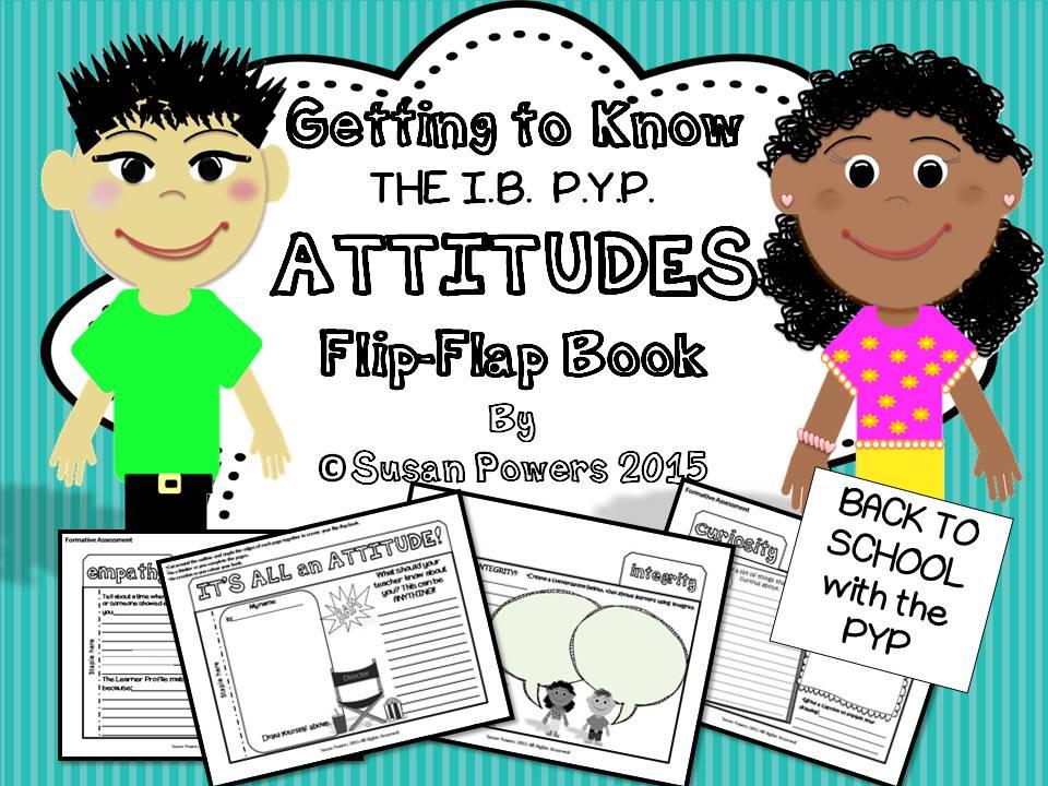 An IB PYP Attitudes Flip Flap Book Activity