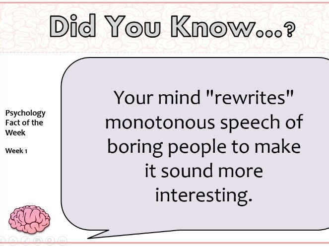 Psychology Fact of the Week