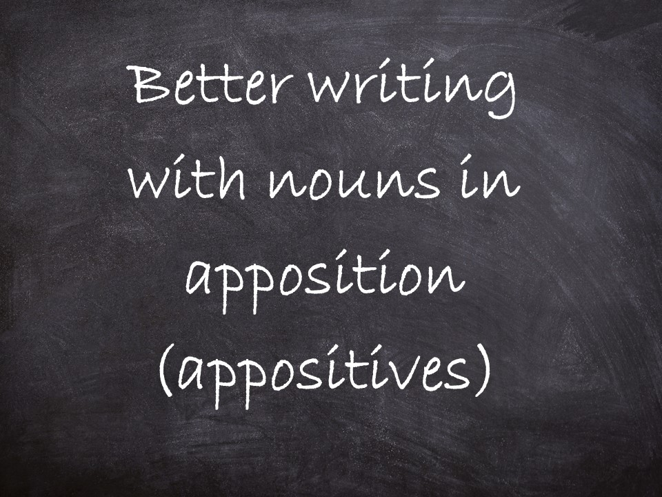 Nouns in apposition / appositives