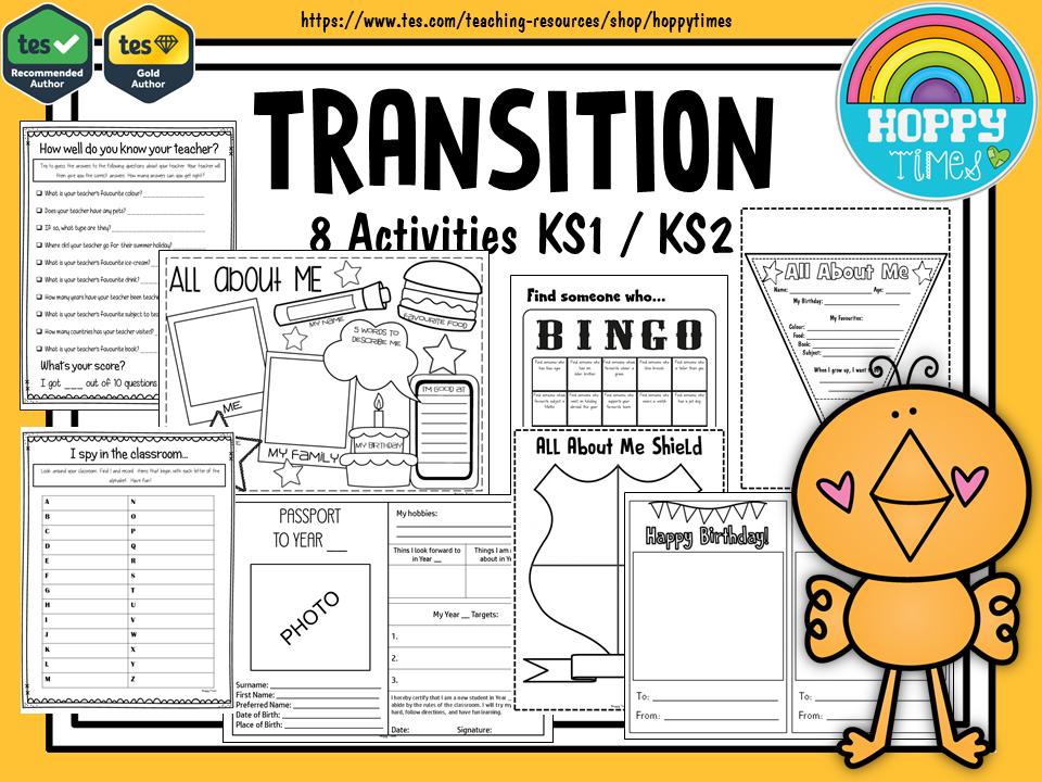 8 TRANSITION  ACTIVITIES New Class