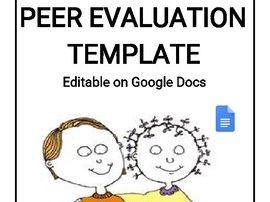 12 Different Peer Evaluation Template (Editable Google Docs)