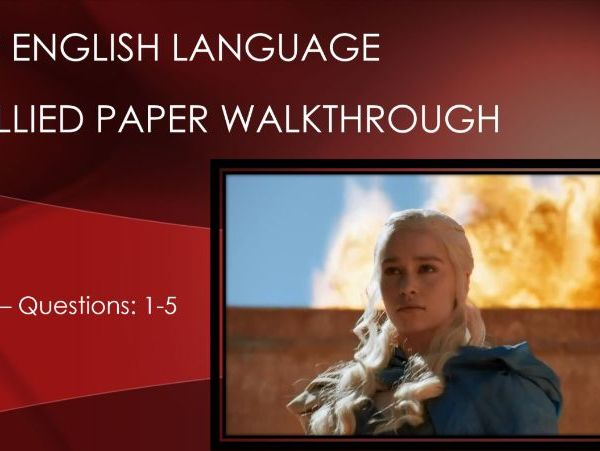 New Spec GCSE English Language - Paper 1 - Game of Thrones Unsullied Intro/Revise Pack