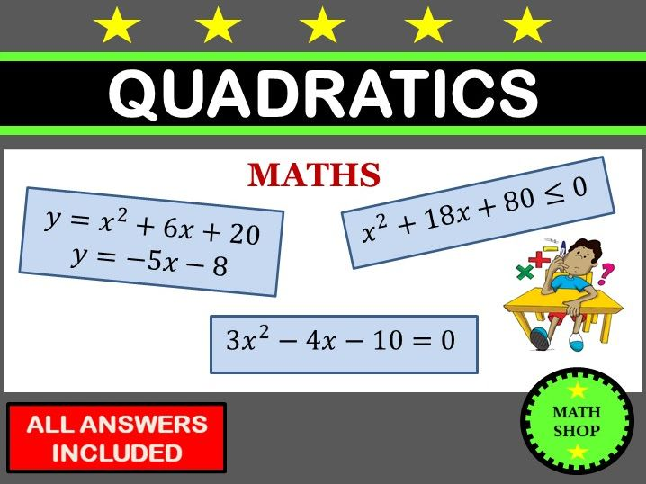 Quadratic Inequalities Equations Simultaneous