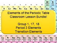 Elements of the Periodic Table Lesson Bundle! (36 Slides + 4 Worksheets with over 60 Questions!)