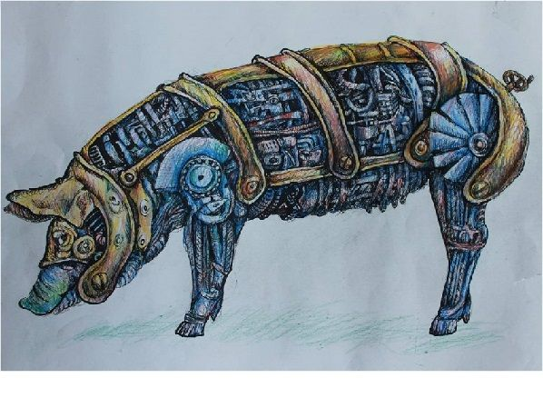 Steam Punk Photoshop Animals