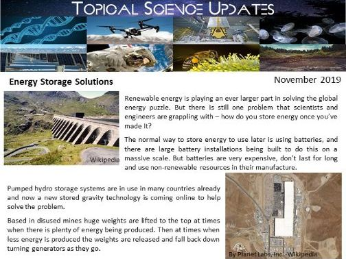 Topical Science Update - November 2019