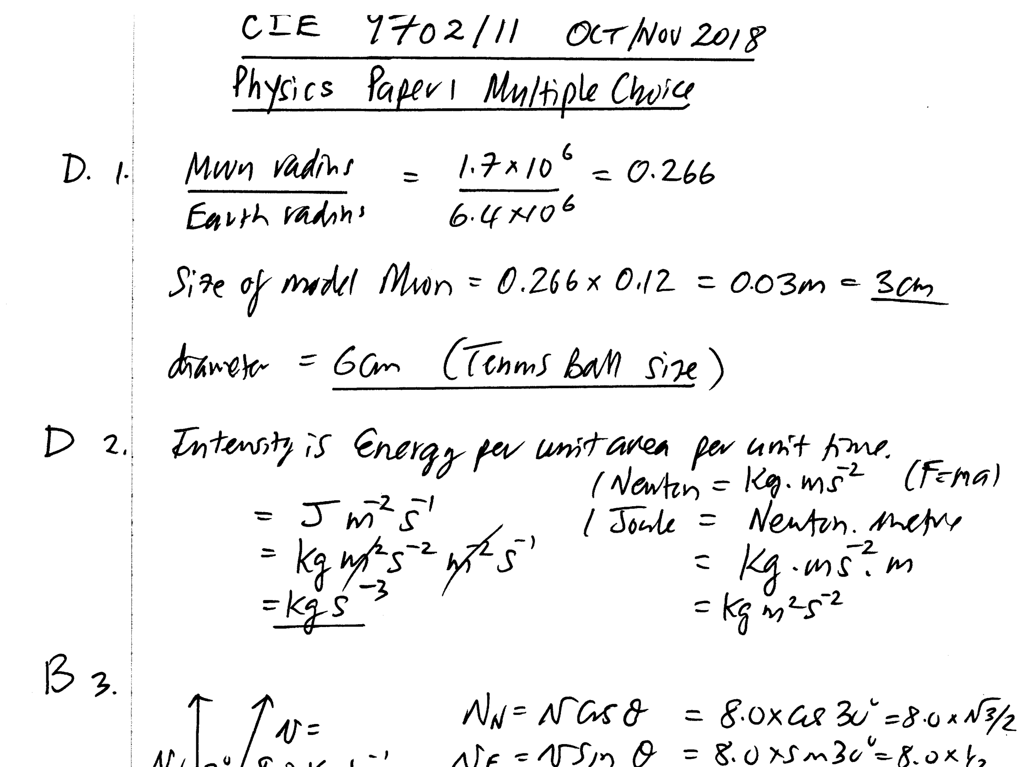 CIE A Level 9702/11 Oct/Nov 2018 Multiple Choice Detailed Solutions