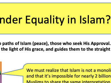 Gender Equality in Islam Lesson 1