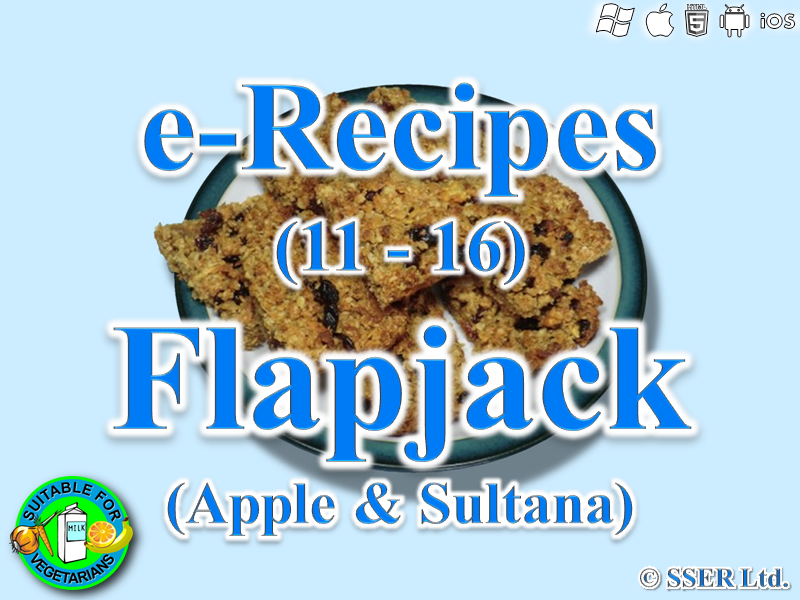 1.       Apple & Sultana Flapjack (e-Recipe)