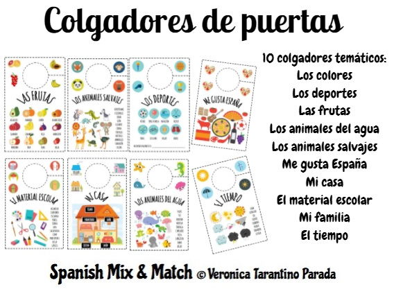 CRAFTY DOOR HANGERS SPANISH VOCABULARY BASED (PRIMARY)