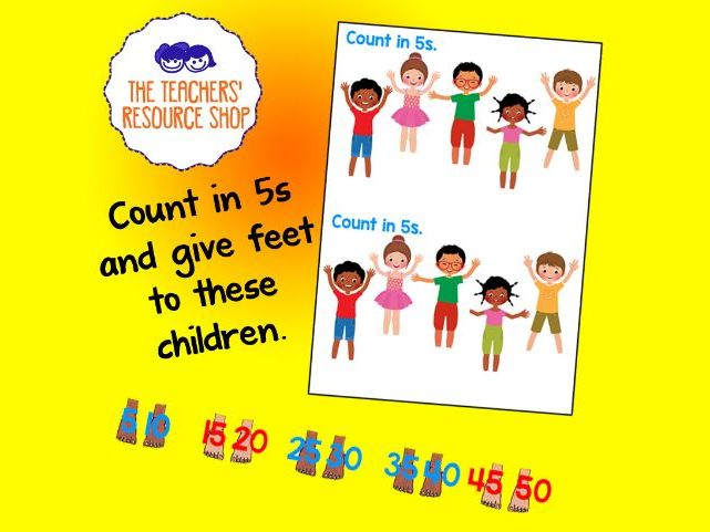 Counting in fives with feet