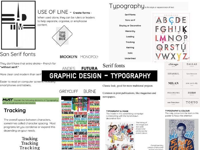 Research TYPOGRAPHY | KS3/4 DT GRAPHIC Design