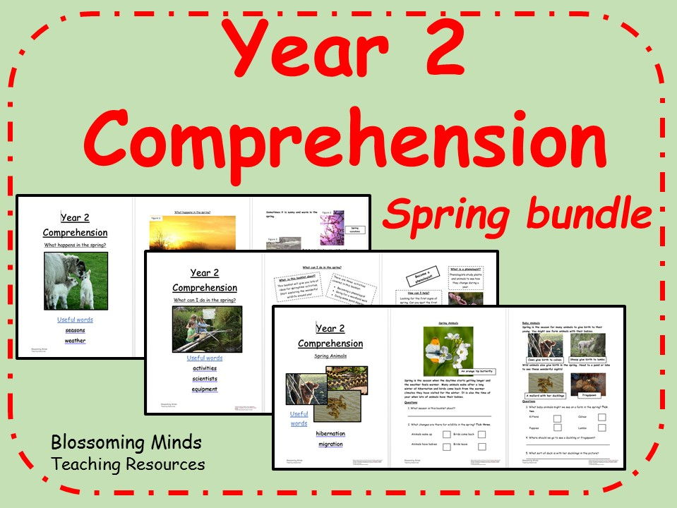 Spring themed SATs comprehension