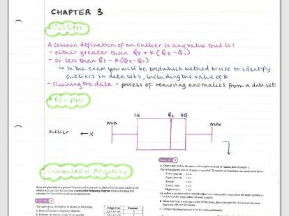 AS Maths Statistics notes- Chapter 3 (Representation of data)
