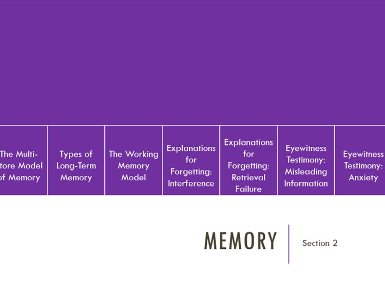 AQA AS-Level Psychology - Memory