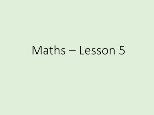 Maths GCSE - Numbers, Tuition Lesson 5 of 5 (Power Point)