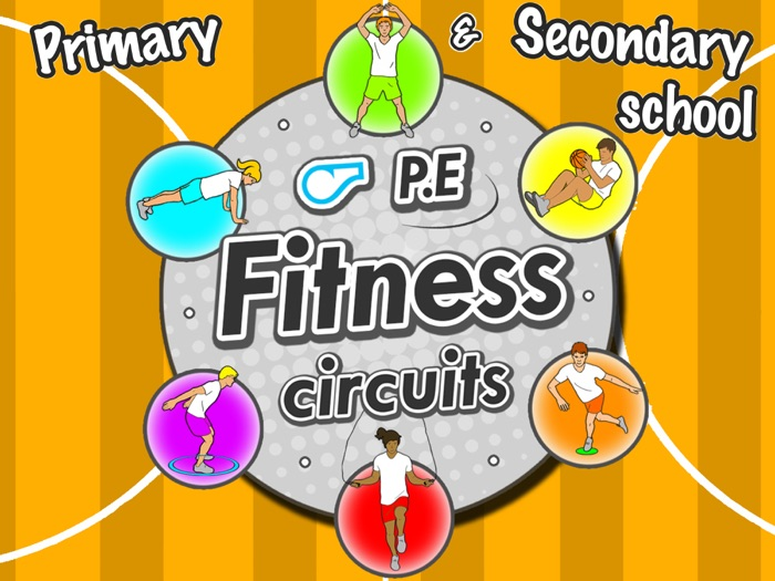 Fitness Circuit Station cards - 36 PE activities for primary & secondary school