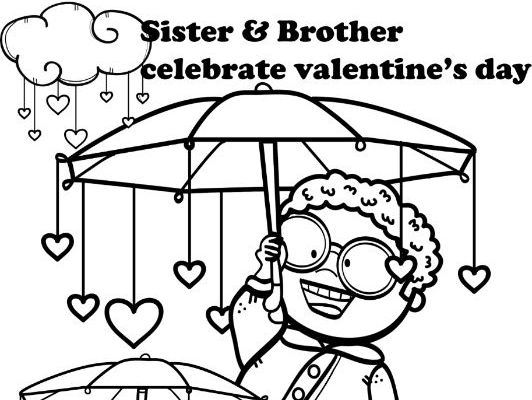 Valentine's freebie! (coloring page activity)