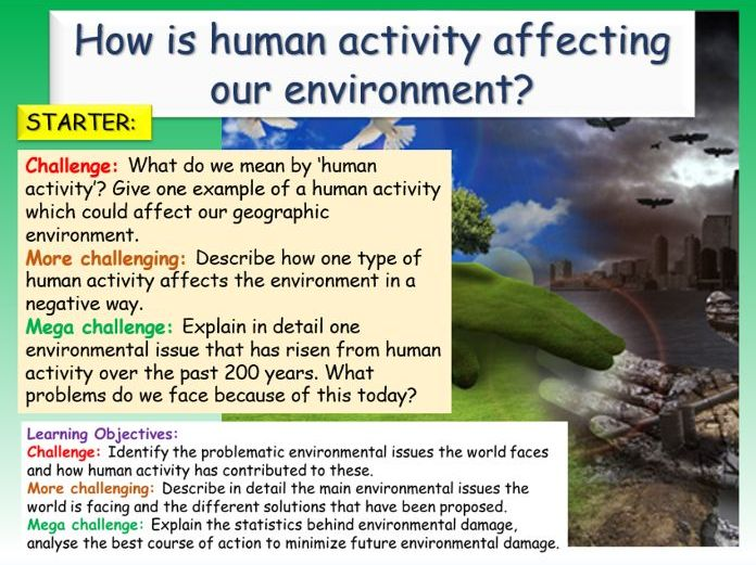 Geography - Human Effects On Environment