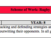 P.E Rugby Union Schemes of Work  (Includes Y7 Tag) KS3 & KS4