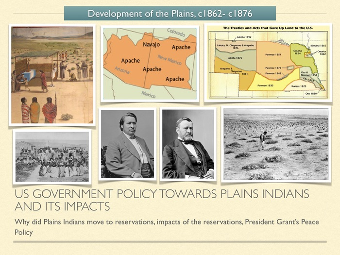 GCSE History of American West 1800s. US Gov. Policy towards Plains Indians.
