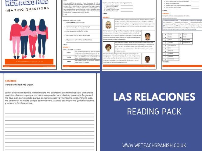 Las Relaciones Reading Pack