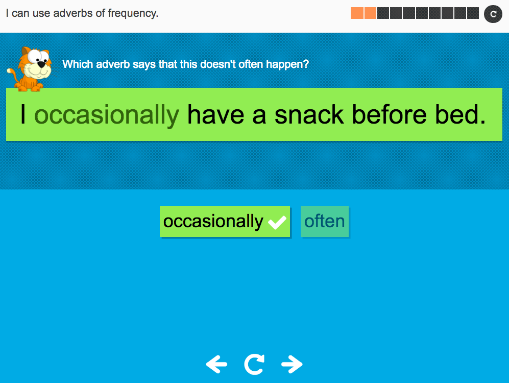I can use adverbs of frequency - Interactive Activity - Year 5 Spag
