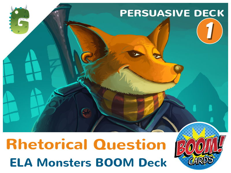 Rhetorical Question Boom Cards (Persuasive Language - Deck 1)