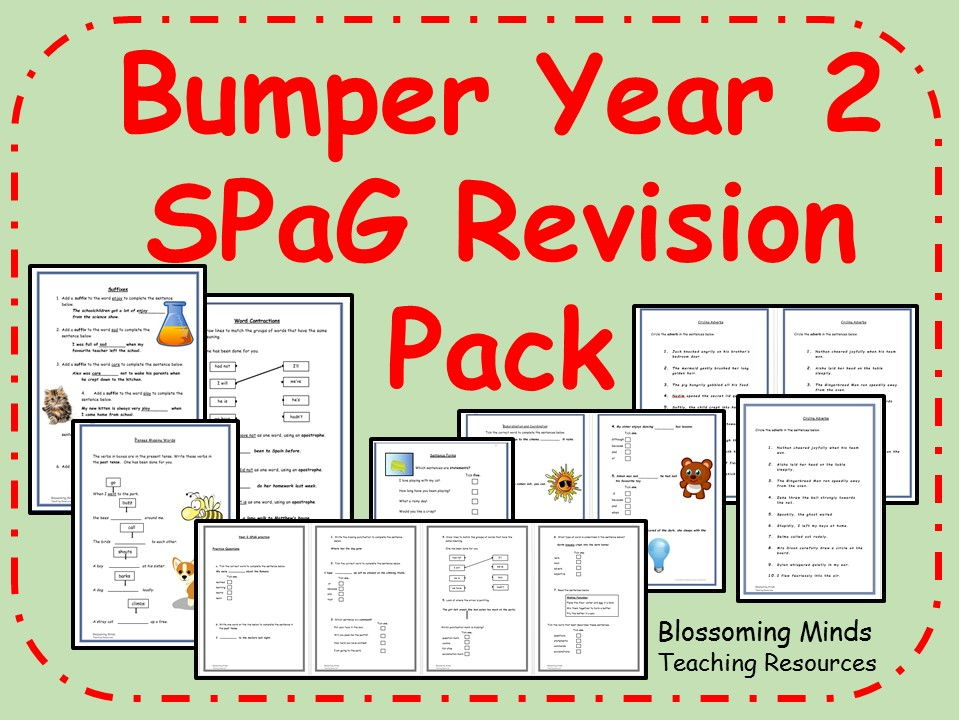 Bumper KS1 SATs SPaG Revision Pack