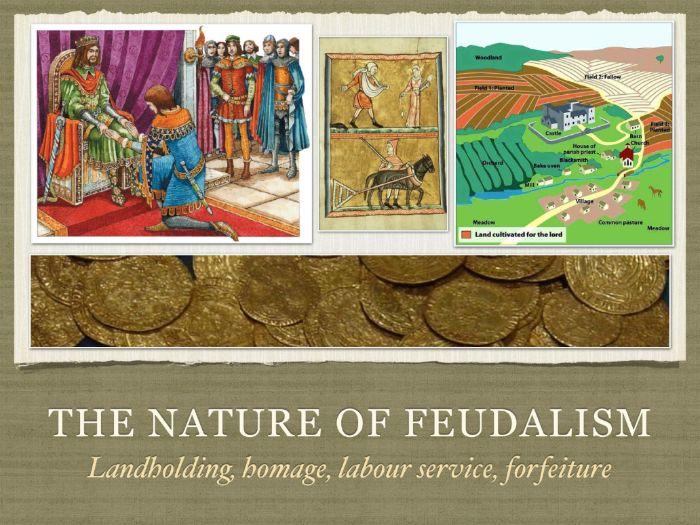Norman england feudalism