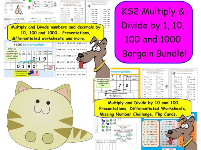 Y5 Y6 Multiply Divide Numbers Decimals by 10 100 and 1000 – Multiplying Decimals by 10 and 100 Worksheet