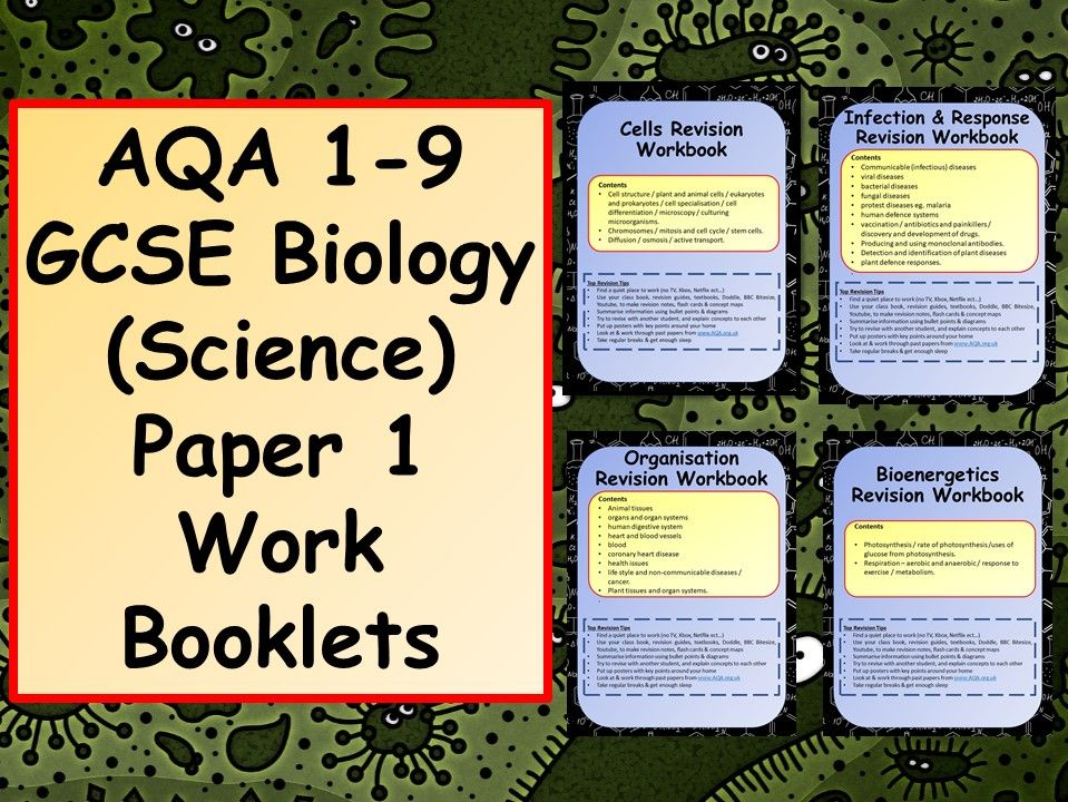 AQA 1-9 GCSE Biology (Science) Paper 1 Work Booklets