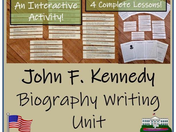 John F. Kennedy Biography Writing Unit