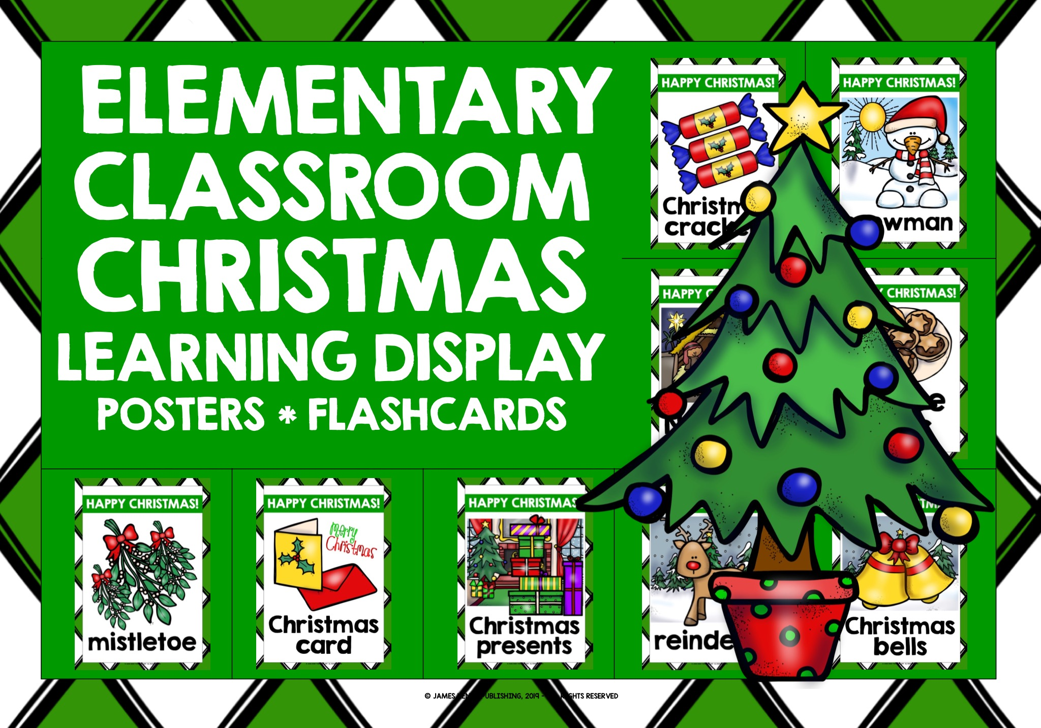 Christmas Classroom Decor Posters Flashcards Teaching Resources