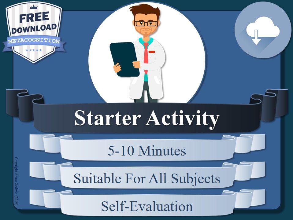 Metacognition Starter Activity (A)