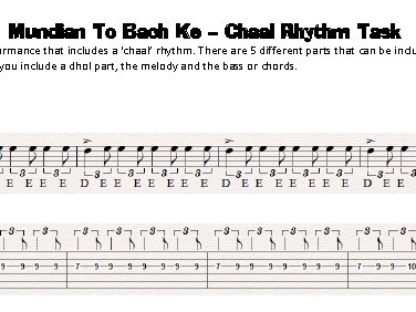 OCR GCSE MUSIC AoS3 Bhangra Keyboard/Guitar Performance Task - Mundian To Bach Ke