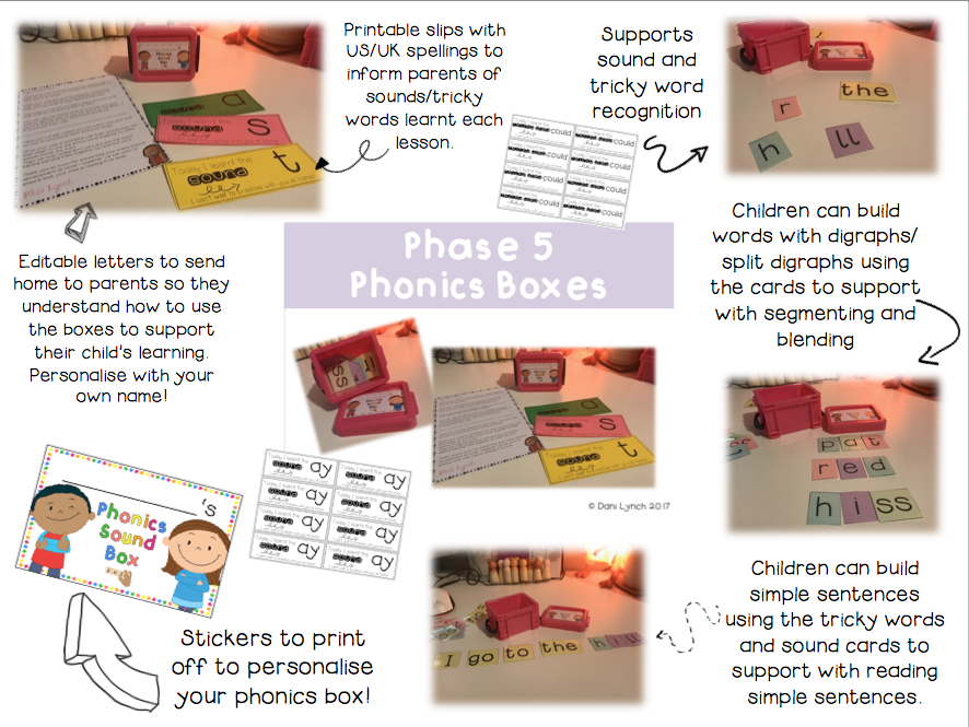 Phase 5 Phonics Sound Boxes